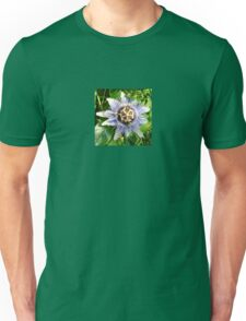 Passiflora Against Green Foliage In A Garden Unisex T-Shirt