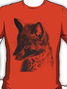 Black Fox Scratchboard T-Shirt