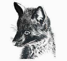 Black Fox Scratchboard Unisex T-Shirt