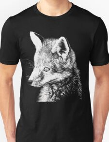 White Fox Scratchboard T-Shirt