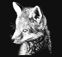 White Fox Scratchboard Unisex T-Shirt