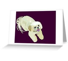 ShihTzu of Happiness  Greeting Card