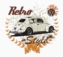 Retro Style BUG T-Shirt by MILK-Lover