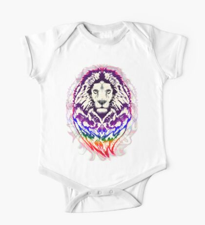 Lion Psychedelic Pop Art One Piece - Short Sleeve