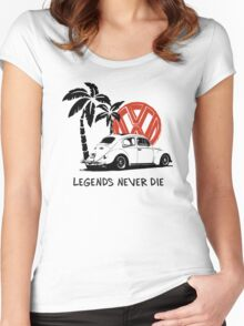 Legends Never Die - Retro BUG T-Shirt Women's Fitted Scoop T-Shirt