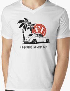 Legends Never Die - Retro BUG T-Shirt Mens V-Neck T-Shirt