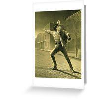 Old Fireman Illustration Greeting Card
