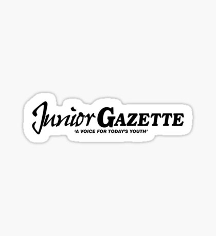 Junior Gazette (black logo) Sticker
