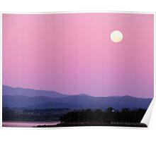 Mauve Mountains. Poster