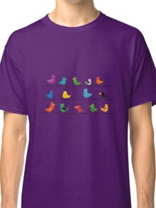 Swarm of birds on a line Classic T-Shirt