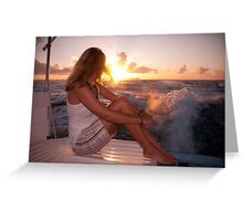 Glowing Sunrise. Greeting New Day  Greeting Card