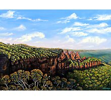 Towards Echo Point, Blue Mtns Australia Photographic Print