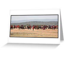 Masai Cattle market Greeting Card