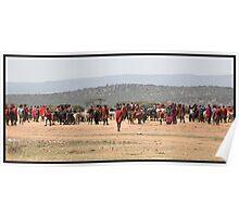 Masai Cattle market Poster