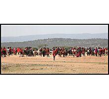Masai Cattle market Photographic Print