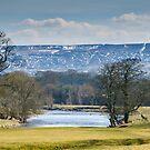 Beamsley Moor from Bolton Abbey by Mark Baldwyn