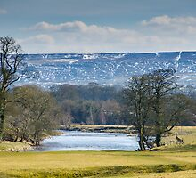 Beamsley Moor from Bolton Abbey by Mark Baldwyn