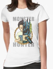 Monster Hunter Life (Azure Variant) Womens Fitted T-Shirt