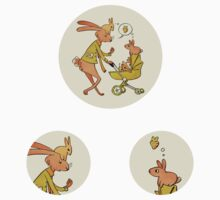 Incorrigibly Fatherly Rabbit (stickers) by Carrie Wilbraham
