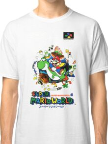 Super Mario World Nintendo Super Famicom Box Art Classic T-Shirt