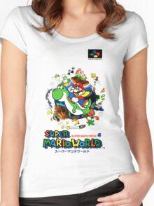 Super Mario World Nintendo Super Famicom Box Art Women's Fitted Scoop T-Shirt