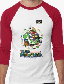 Super Mario World Nintendo Super Famicom Box Art Men's Baseball ¾ T-Shirt