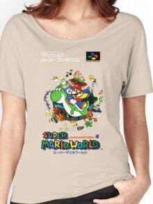 Super Mario World Nintendo Super Famicom Box Art Women's Relaxed Fit T-Shirt