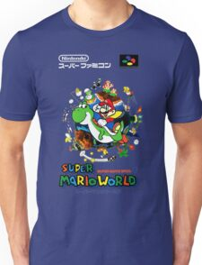 Super Mario World Nintendo Super Famicom Box Art Unisex T-Shirt