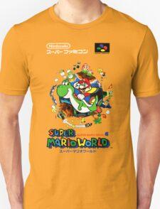 Super Mario World Nintendo Super Famicom Box Art T-Shirt