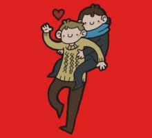 Sherlock & John- Piggyback by geothebio