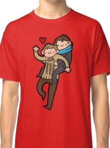 Sherlock & John- Piggyback Classic T-Shirt