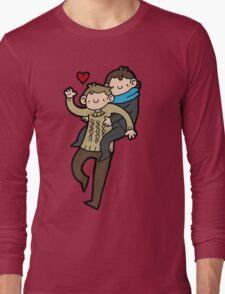 Sherlock & John- Piggyback Long Sleeve T-Shirt