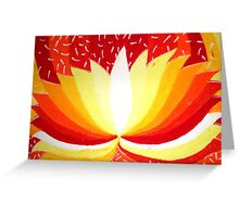 Fire Lotus  Greeting Card