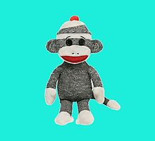 Sock Monkey iPhone iPod Case by wlartdesigns