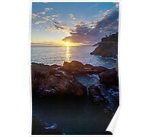 Sunset of Manarola Poster