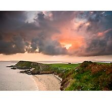 Rinvyle Point Sunset Photographic Print