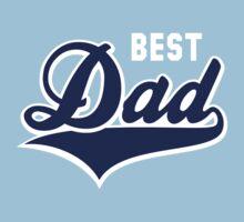BEST Dad Tail-Design 2C Navy/White T-Shirt