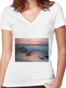 Hungry Hollow at Sunset Women's Fitted V-Neck T-Shirt