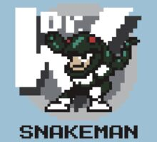 Snake Man with Black Text by Funkymunkey