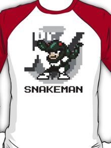 Snake Man with Black Text T-Shirt