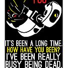 "GLaDOS Portal 2 Poster ""It's Been A Long Time..."" by quigalchemist"