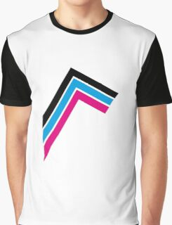 3 colored stripes Graphic T-Shirt