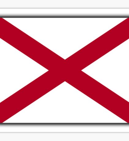 ALABAMA, Alabama Flag, Flag of Alabama, on BLACK, State flags, Southern states, America, USA, American, Americana Sticker