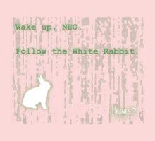Wake up, Neo, Follow the White Rabbit Kids Tee