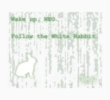 Wake up, Neo, Follow the White Rabbit One Piece - Long Sleeve