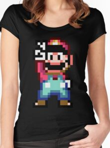 Super Mario World victory pose Women's Fitted Scoop T-Shirt