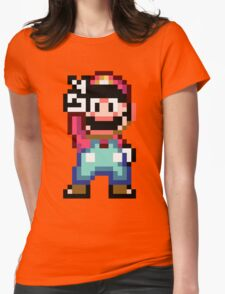 Super Mario World victory pose Womens Fitted T-Shirt