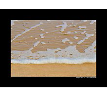 Atlantic Ocean Beach Detail - Hampton Bays, New York  Photographic Print