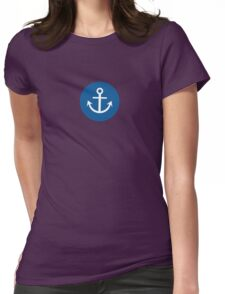 Anchor on Circle Womens Fitted T-Shirt
