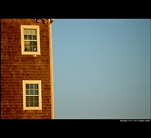 Montauk Point Light Keepers Dwelling Windows - Montauk, New York  by © Sophie W. Smith